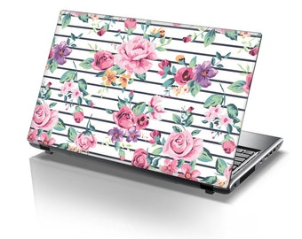 TaylorHe Laptop Skin Sticker Elegant Pastel Roses