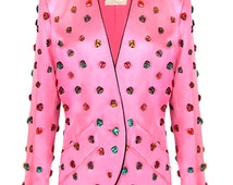 Yves Saint Laurent Couture Jacket Covered with Multi-Coloured Crystals