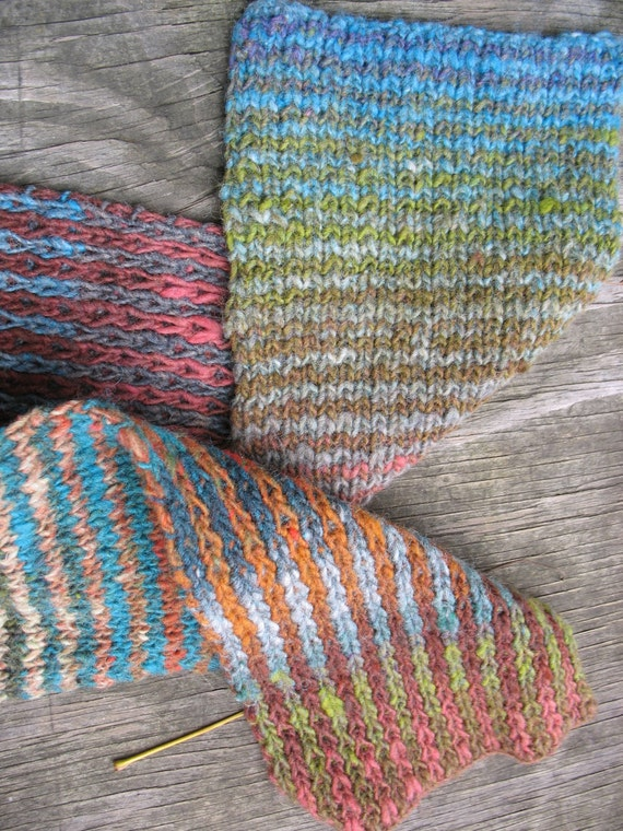 Vertical Striped Scarf Knitting Pattern : Latitude and Longitude reversible striped hat / scarf / cowl, horizontal stri...