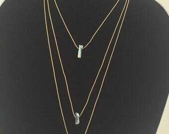 Minimalist Natural Quartz Necklace