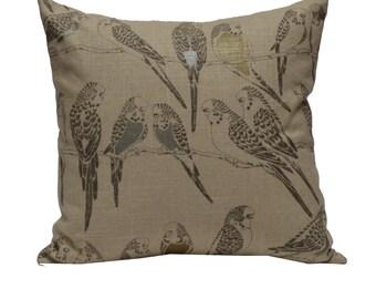 Decorative Pillow Cover Metallic Birds