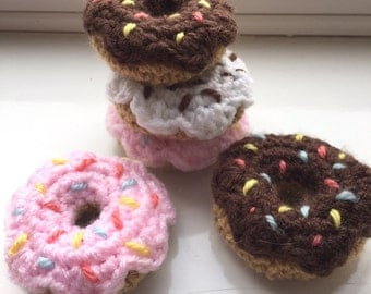 Little Crochet Donut Cat Toy with Catnip