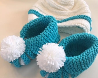 Baby Boy Hat and Bootie set