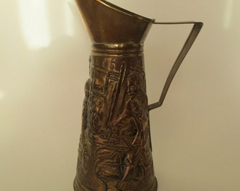 Pressed Brass Pitcher  Made in England