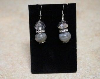Stunning silver dangle earrings