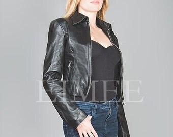 Genuine Leather Short jacket KATRINA