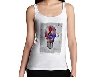Women's Musical Lightbulb Tank Top