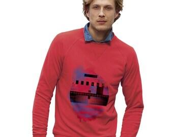 Men's Red and Blue Geometry Sweatshirt