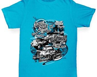 Boy's Hot Rod Car Flame T-Shirt