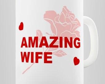 Amazing Wife Romantic Ceramic Tea Mug