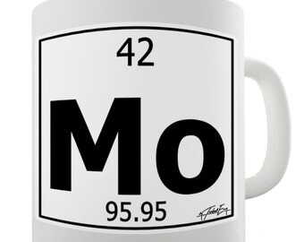 periodic table of elements mo molybdenum ceramic tea mug - Periodic Table Mug Australia