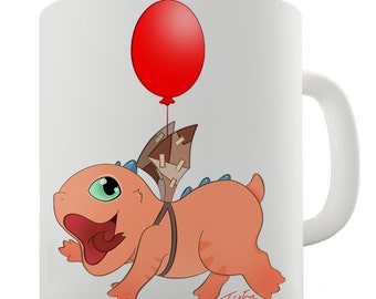 Snap The Dragon Flying Ceramic Novelty Mug