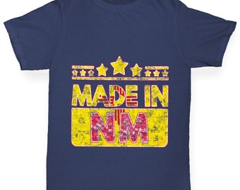 Girl's Made In NM New Mexico T-Shirt