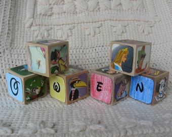Personalized Disney Blocks With Your Child's Name