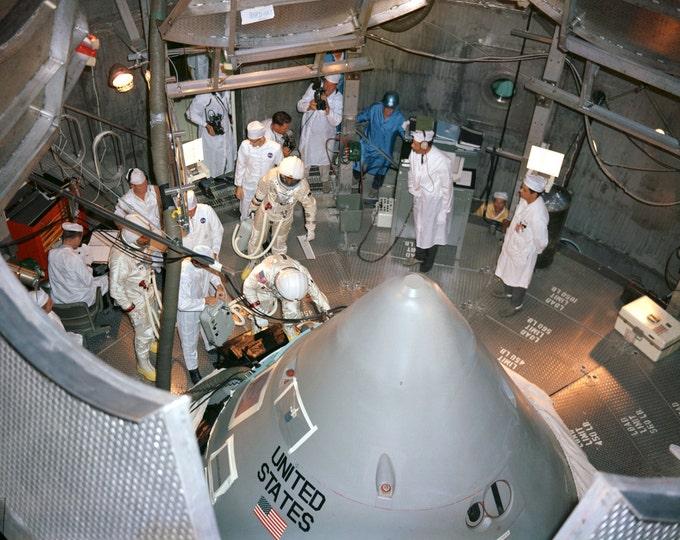 Apollo 1 Crew Prepares to Enter Command Module at Kennedy Space Center - 5X7, 8X10 or 11X14 NASA Photo (EP-525)