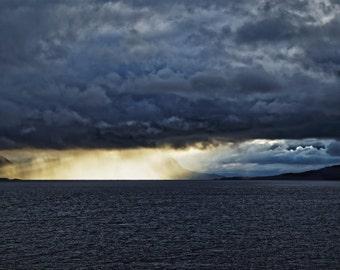 Ray Of Light... (drama, storm, clouds, sun, sea, dark, heaven, fineArt)