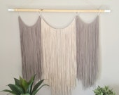 Large Macrame wall hanging. Woven yarn wall hanging. Large size macrame