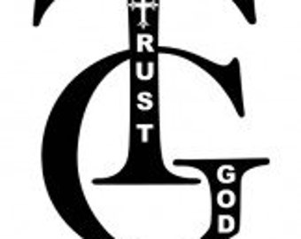 Trust God Semi-Fitted Anvil Graphic T-Shirt