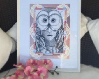 Her Owl Eyes Art modern