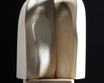 Sarcophagus II - Original Sculpture Modern Contemporary Abstract Holly Wood