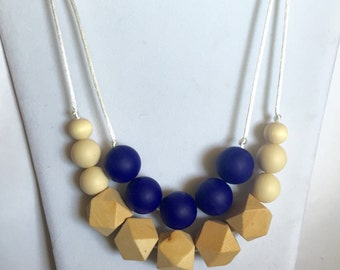 The Delaina- Navy Teething Necklace/Nursing Necklace