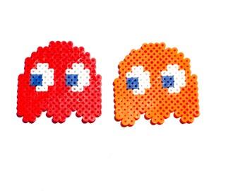 Pac Man Ghost, Perler Bead, Pac Man, 8 Bit, Pixel Art, Pixel, Video Game, Nintendo, Magnet, Keychain, Gamer, 8 Bit Art, Retro, Perler, Ghost