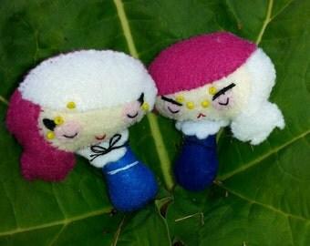 Gemini Twins Zodiac Felt Dolls