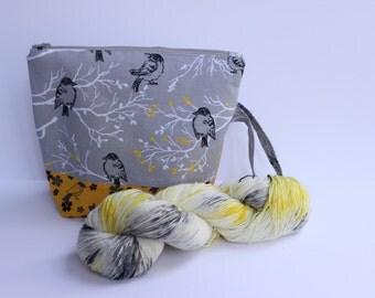 You say goodbye I say Grellow Project bag sock yarn kit