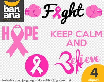 SALE Breast Cancer Clipart png jpg svg eps files high resolution BV-CO-0014