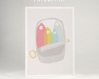 Greeting card - sardines