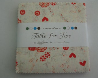 Charm pack Table for Two by Sandy Gervais for Moda