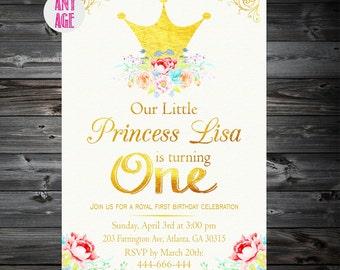 Princess Birthday Invitation,Princess Invitations,Princess Birthday,Princess Birthday Party,1st 2nd 3rd 4th 5th 6th 7th kids party