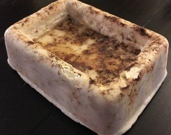 Cinnamon oat shea butter soap bar