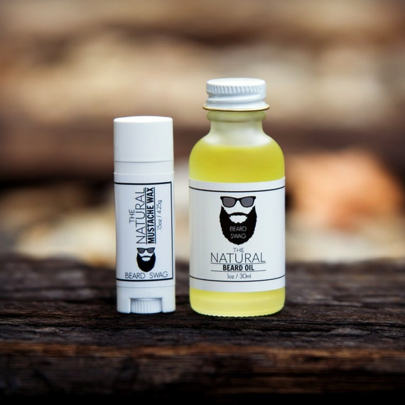 The Natural Beard Oil And Mustache Wax Combo By Beard Swag