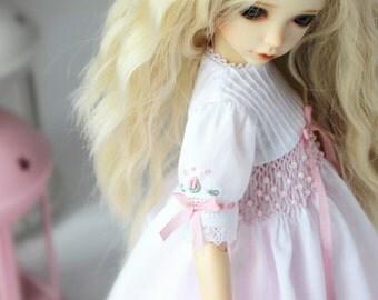 OUTFIT for doll IPLEHOUSE KID 35 cm. White smocked dress, top, underskirt
