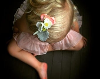 Petite Floral Special Occasion Hair Clip