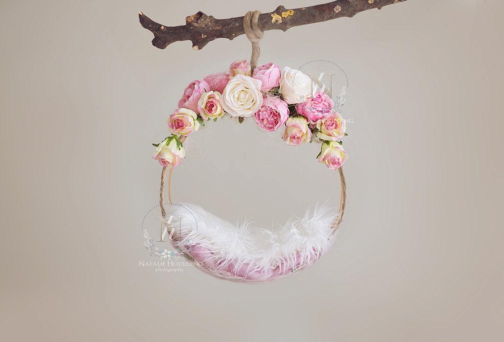 2x Digital Backdrop Newborn Floral Basket Morine From