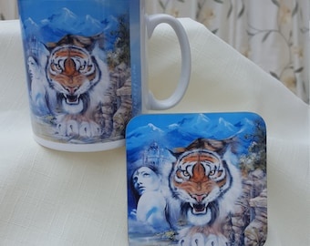 Easy Tiger Mug & Coaster Set