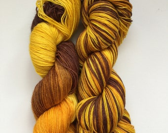 Saharan Sands Hand Dyed Sock Yarn 100g DYED TO ORDER