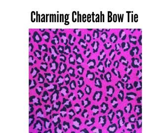 Charming Cheetah Bow Tie