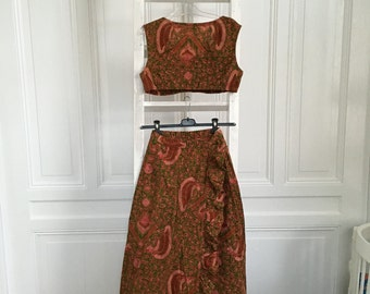 Quirky vintage top and skirt