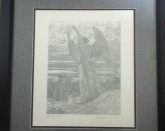 Angel And Joshua Limited Edition Etching By Guillaume Azoulay