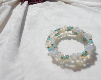 Chic Crystal White and Turquoise