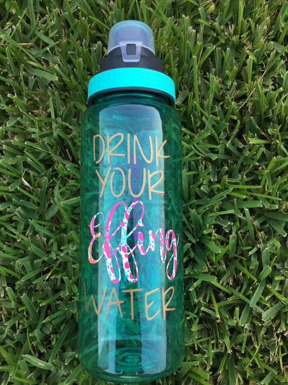 Drink Your Effing Water Bottle Lilly Pulitzer Lilly Pulizter