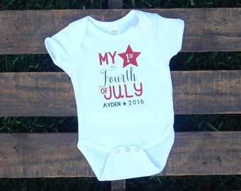 My 1st 4th of July / Personalized / Date / Independence Day / Fourth of July
