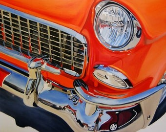 "Original Oil painting titled ""Blown 55"" by Stefanie Aziere-Sattler"