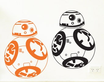 BB-8 Wall Sticker, Removable Decal, Made In Australia