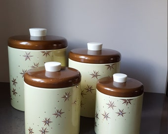 FREE SHIPPING!!! Vintage Ransburg canisters