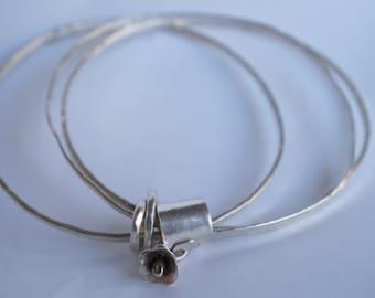 sterling silver stacking bangles; hammered stacking bangles; sterling bracelets; silver bangle bracelets; stacking blangle bracelets