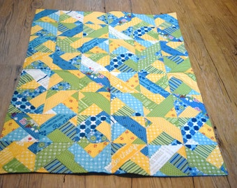 Blue, Yellow, and Green quilt
